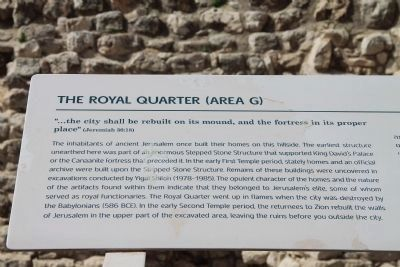 The Royal Quarter (Area G) Marker image. Click for full size.