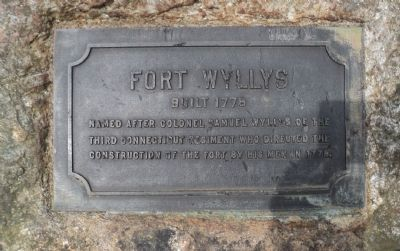 Fort Wyllys Marker image. Click for full size.