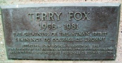 Terry Fox 1958 -1981 Marker image. Click for full size.