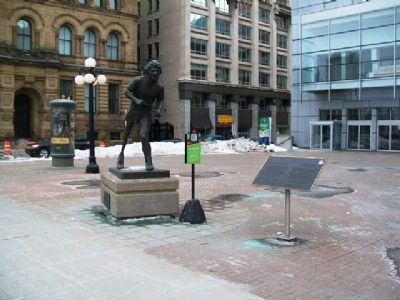 Terry Fox Statue and Marker image. Click for full size.