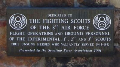The Fighting Scouts Of The 8th Air Force Marker image. Click for full size.