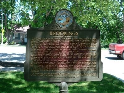 Brookings Marker image. Click for full size.