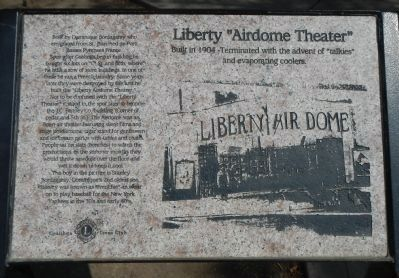 "Liberty ""Airdome Theater"" Marker image. Click for full size."