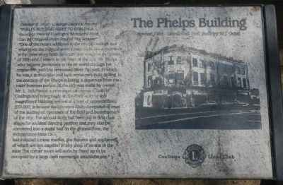 The Phelps Building Marker image. Click for full size.