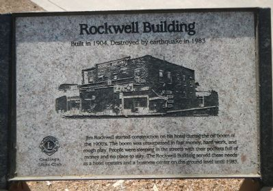 The Rockwell Building Marker image. Click for full size.