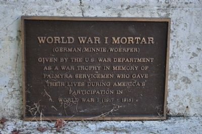 World War I Mortar Marker image. Click for full size.