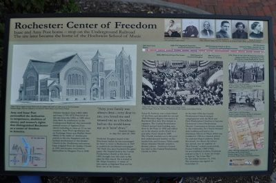 Rochester: Center of Freedom Marker image. Click for full size.