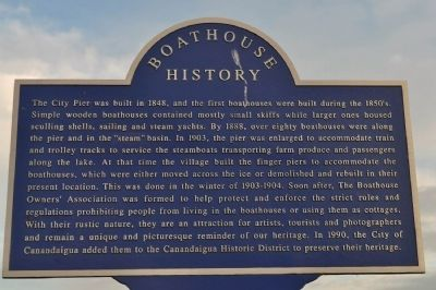 Boathouse History Marker image. Click for full size.
