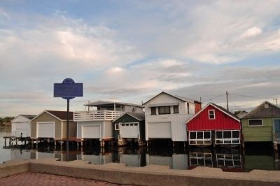 Boathouses and Marker image. Click for full size.