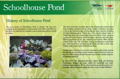 History of Schoolhouse Pond Marker image. Click for full size.
