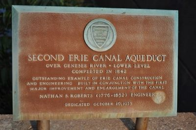 Second Erie Canal Aqueduct Marker image. Click for full size.