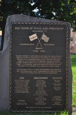 200 Years of Peace and Friendship Marker image. Click for full size.