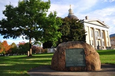 The Last General Council of the United States Marker as seen on courthouse lawn image. Click for full size.