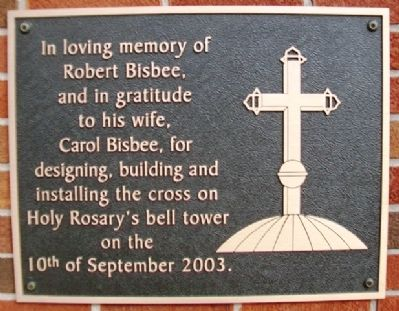 Holy Rosary's Bell Tower Cross Marker image. Click for full size.