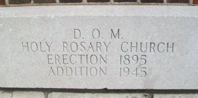 Holy Rosary Catholic Church Cornerstone image. Click for full size.