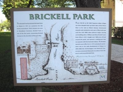 Brickell Park Marker image. Click for full size.