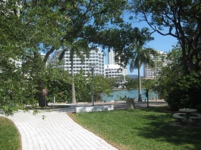 Brickell Park along Biscayne Bay image. Click for full size.
