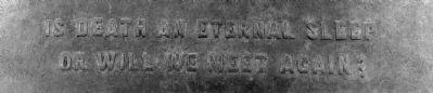 Text on Back Side of Charles H. Noyes Monument image. Click for full size.
