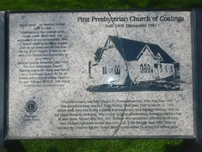 First Presbyterian Church of Coalinga Marker image. Click for full size.
