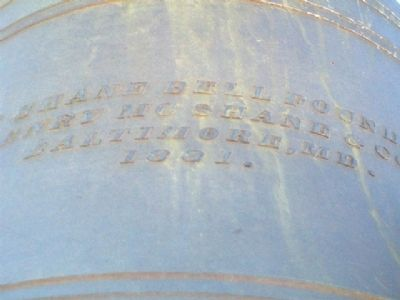 Garfield School Bell Foundry Mark image. Click for full size.