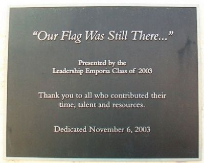 """Our Flag Was Still There..."" Marker image. Click for full size."