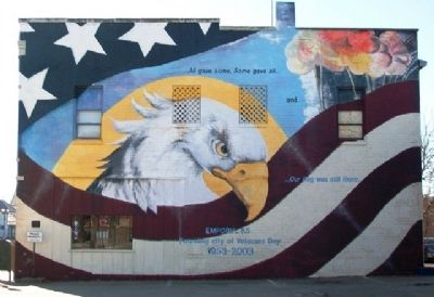 """Our Flag Was Still There..."" Mural image. Click for full size."
