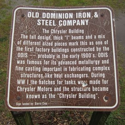 Old Dominion Iron & Steel Company Marker image. Click for full size.