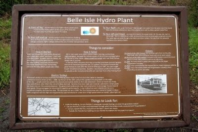 Belle Isle Hydro Plant Marker image. Click for full size.