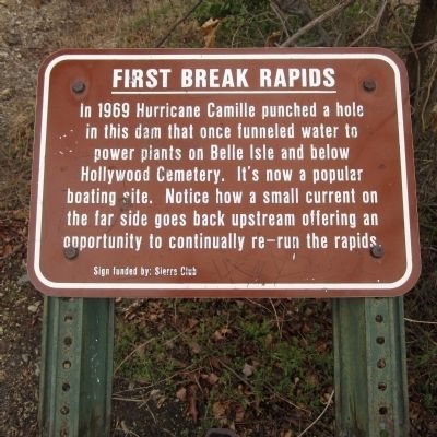 First Break Rapids Marker image. Click for full size.