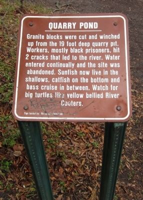 Quarry Pond Marker image. Click for full size.
