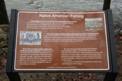 Native American Fishing Marker image. Click for full size.