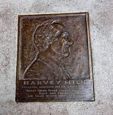 Harvey Milk Memorial Plaque image. Click for full size.