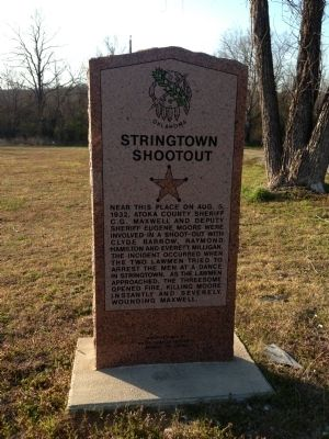 Stringtown Shootout Marker image. Click for full size.