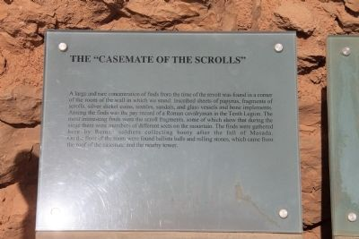 "The ""Casemate of the Scrolls"" Marker image. Click for full size."