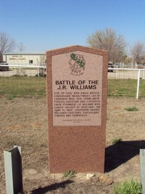 Battle of the J.R. Williams Marker image. Click for full size.