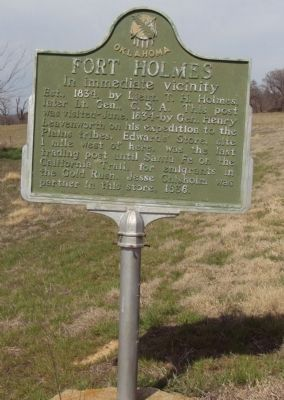 Fort Holmes Marker image. Click for full size.