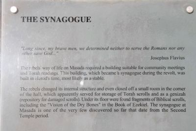 The Synagogue Marker image. Click for full size.