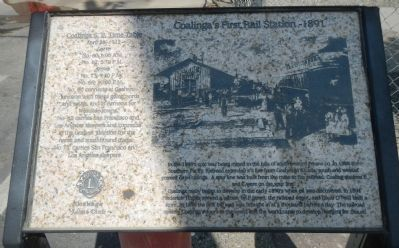 Coalinga's First Rail Station – 1891 Marker image. Click for full size.