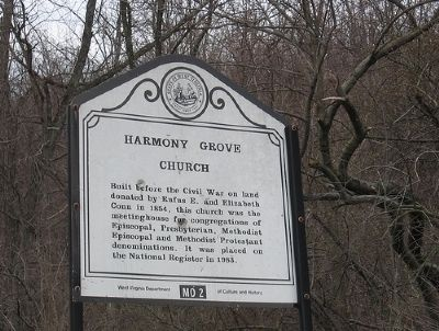 Harmony Grove Church Marker image. Click for full size.