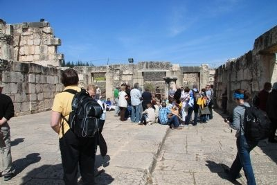 The White Synagogue of Capernaum image. Click for full size.