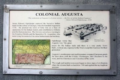 Colonial Augusta Marker image. Click for full size.