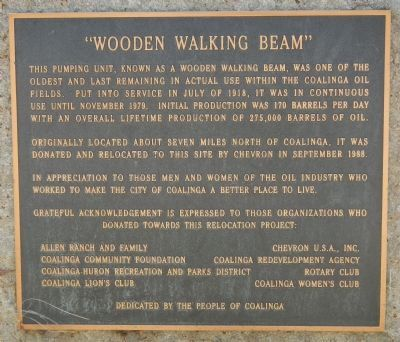 """Wooden Walking Beam"" Marker image. Click for full size."