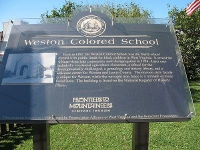 Weston Colored School Marker image. Click for full size.