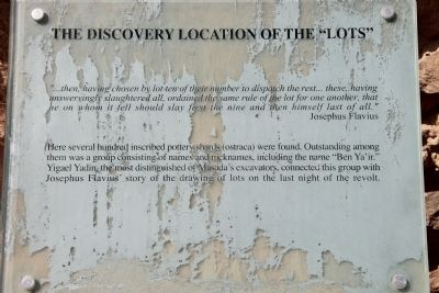 "The Discovery Location of the ""Lots"" Marker image. Click for full size."