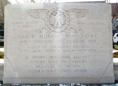 Major Murray Davis D.S.C. Marker image. Click for full size.
