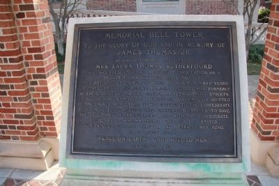 Memorial Bell Tower Marker image. Click for full size.