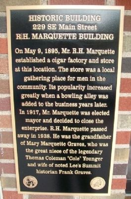 R.H. Marquette Building Marker image. Click for full size.