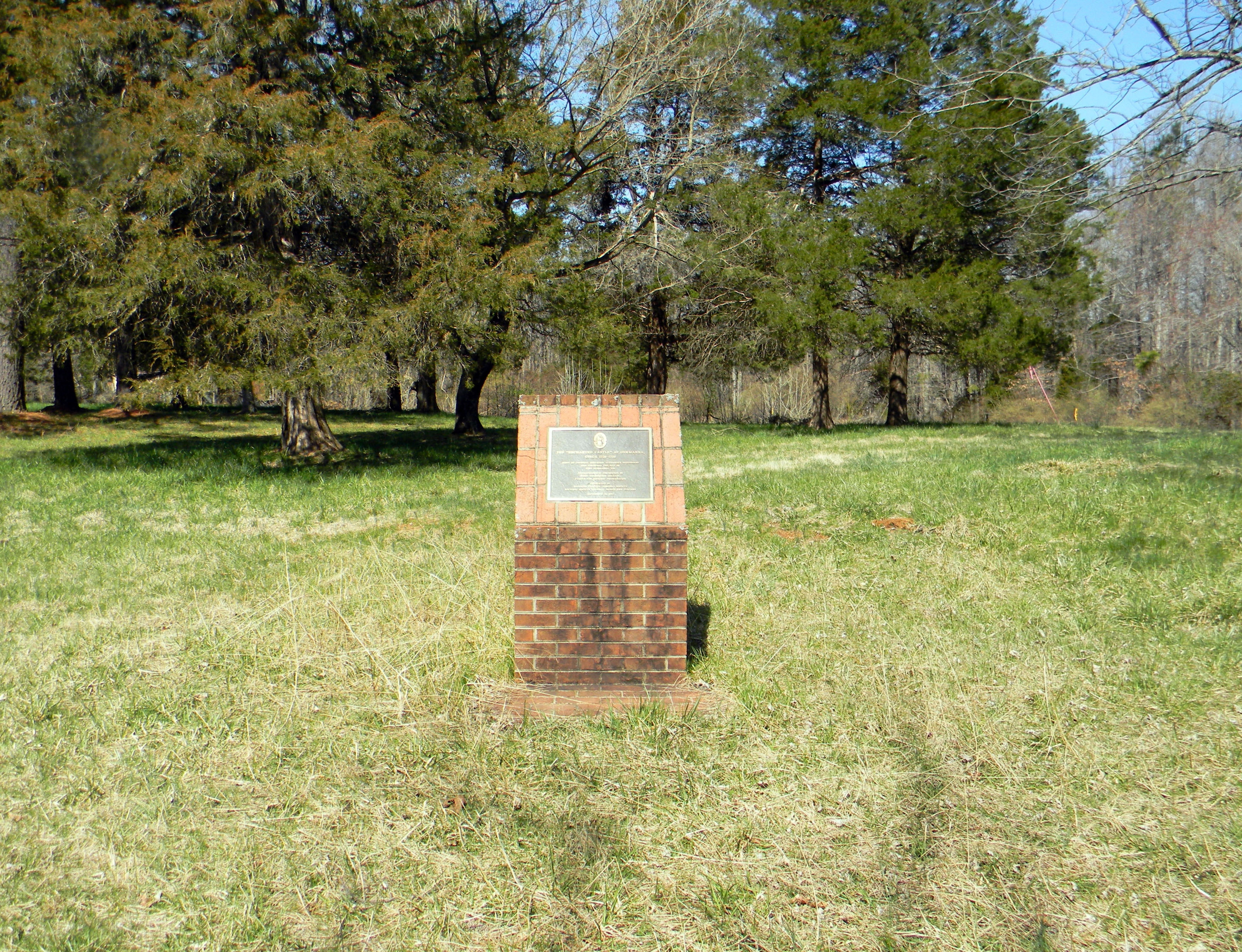 "Wide view of The ""Enchanted Castle"" at Germanna, circa 1720-1750 Marker"