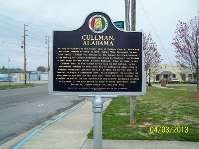 Cullman, Alabama Marker image. Click for full size.