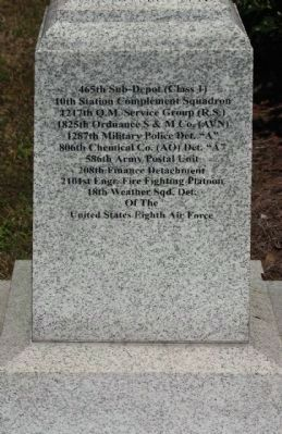 392nd Bomb Group Marker, south face image. Click for full size.